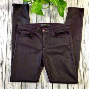Joe's Jeans Skinny Coated/Waxed Sz 29 plum